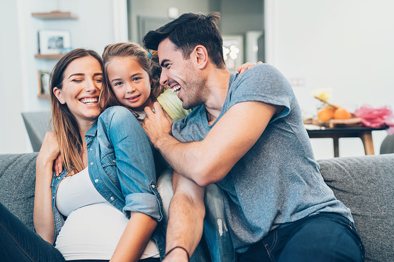 A family happy about their investment opportunities